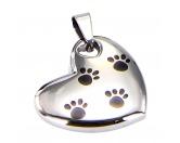 Für TiereKühlartikel für HundeEnergy and Life Magnetschmuck - Anhänger Herz mit Pfoten