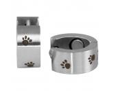 MarkenEnergy & Life: Magnet Ohrringe Pfötchen -silber-