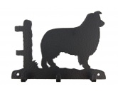 Tiermotiv TassenTassen HunderassenBorder Collie stehend Leinengarderobe - Schlüsselbrett