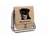 Schmuck & AccessoiresHunderassen-Broschen versilbert/vergoldetRottweiler 1 Canvas Schultertasche Tasche mit Hundemotiv und Namen
