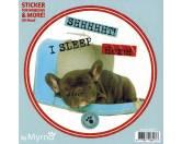Myrna Hunderassen-Aufkleber: Französische Bulldogge 1