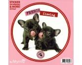 Myrna Hunderassen-Aufkleber: Französische Bulldogge 2