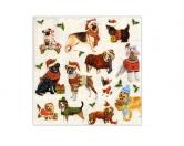 WeihnachtenPapier-Servietten: Hunderassen - Weihnachten Xmas Dogs