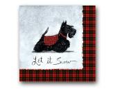 WeihnachtenPapier-Servietten: Hund Scottie - Weihnachten Xmas Scottish Terrier  20 Stck 33 x 33 cm