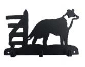 RestpostenBorder Collie stehend 2 Leinengarderobe - Schlüsselbrett