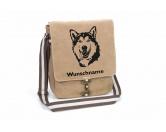 Aufkleber & TafelnHund Inside Auto AufkleberAlaskan Malamute Canvas Schultertasche Tasche mit Hundemotiv und Namen