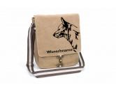 Schmuck & AccessoiresHunderassen Schmuck AnhängerAustralian Cattle Dog Canvas Schultertasche Tasche mit Hundemotiv und Namen