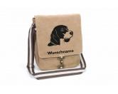 Für MenschenAuto-SonnenschutzBeagle 4 Canvas Schultertasche Tasche mit Hundemotiv und Namen
