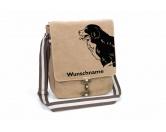 Selbstklebende KreidetafelnHundeBerner Sennenhund 2 Canvas Schultertasche Tasche mit Hundemotiv und Namen