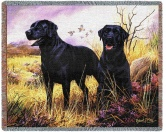 Decke Groß: Labrador Schwarz Duo