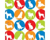 Geschenk-VerpackungenGeschenkpapier für Tierfreunde: Dog Party Silhouettes