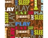 Geschenk-VerpackungenGeschenkpapier für Tierfreunde: Eat Sleep Play