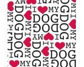 Geschenk-VerpackungenGeschenkpapier für Tierfreunde: I Love My Dog