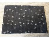 Dry-Bed - mehrfarbig - antirutschDry-Bed: grau mit hellgrauen Pfötchen 50x75cm