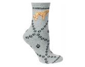 Socken mit TiermotivSocken mit HundemotivHunde Rasse Socken: Goldendoodle Pfote -grau-