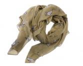 Schals für TierfreundeViskose-Schal-Hundemotiv: Dalmatiner braun