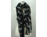 Schals für TierfreundeViskose-Schal-Tiermotiv: Zebra