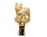 AusstellungszubehörHunderassen Ringclips vergoldetHunderassen-Ringclip 24k Vergoldet: Französische Bulldogge - French Bulldog