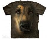 Bekleidung & AccessoiresHundesportwesten mit Hundemotiven inkl. Rückentasche MIL-TEC ®The Mountain T-Shirt - Schäferhund German Shepherd Portrait