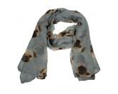 Schals für TierfreundeViskose-Schal-Hundemotiv: Mops grau