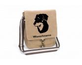 Bekleidung & AccessoiresHundesportwesten mit Hundemotiven inkl. Rückentasche MIL-TEC ®Beauceron Canvas Schultertasche Tasche mit Hundemotiv und Namen