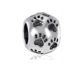 Hundedecken & KissenKopfkissen für HundeBead-Schmuck-Anhänger-Silber: Hundepfote / Hundepfötchen