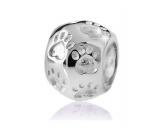 Für MenschenUNSERE BESTSELLERBead-Schmuck-Anhänger-Silber: Hundepfote 2 -925er Sterling Silber-