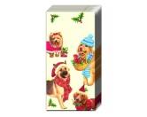 WeihnachtenPapier-Taschentücher: Hunde - Christmas Dogs Weihnachten