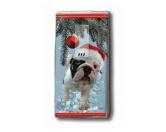 WeihnachtenPapier-Taschentücher: Santa Dog - Bulldogge - Weihnachten