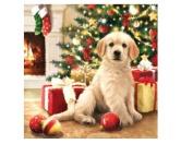 WeihnachtenPapier-Servietten: Hund Golden Retriever Weihnachten 20 Stck 33 x 33 cm