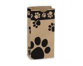 Geschenk-VerpackungenPack-Pfötchen Serie: Papier Tüte BRAUN 20,5cm X 10,5cm & 10erpack