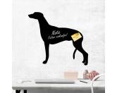 AusstellungszubehörHunderassen Ringclips vergoldetKreidetafel Hunderasse: Greyhound 3