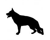 Selbstklebende KreidetafelnHundeKreidetafel Hunderasse: Deutscher Schäferhund 1