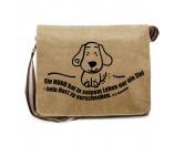 T-ShirtsFan-Shirts für HundefreundeHerz zu verschenken - Canvas Schultertasche Messenger mit Namen