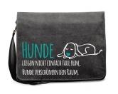 Taschen & RucksäckeCanvas Messenger: Spruch - Hunde verschönern-