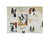 WeihnachtenGeschenkpapier-Set: Best Friends -Boston Terrier-