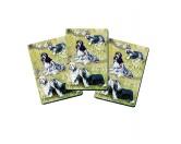 AusstellungszubehörHunderassen Ringclips vergoldetSpielkarten Set: Bearded Collie