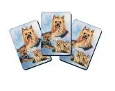 Für MenschenHunde Motiv Handtuch -watercolour-Spielkarten Set: Yorkshire Terrier