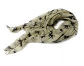 Schals für TierfreundeBaumwoll-Schal-Pferdemotiv: Pferde beige