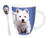 Küche & HaushaltServiettenHunde Motiv Tasse: Westhighland Terrier - Westie + GRATIS LÖFFEL