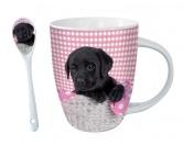 Socken mit TiermotivSocken mit HundemotivHunde Motiv Tasse: Süßer Labrador + GRATIS LÖFFEL!