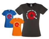 Fan-Shirts für HundefreundeT-Shirt Damen Stern -Home is, where my dog is - rot