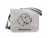 Bekleidung & AccessoiresHundesportwesten mit Hundemotiven inkl. Rückentasche MIL-TEC ®Beagle - Canvas Schultertasche Messenger mit Namen