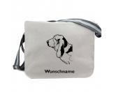 Bekleidung & AccessoiresHundesportwesten mit Hundemotiven inkl. Rückentasche MIL-TEC ®Baumwoll-Tasche: Basset Hound 1