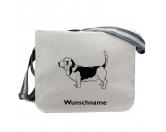 Bekleidung & AccessoiresHundesportwesten mit Hundemotiven inkl. Rückentasche MIL-TEC ®Baumwoll-Tasche: Basset Hound