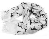 Schals für TierfreundeBaumwoll Schal Hundemotiv: Greyhound Grau