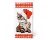 WeihnachtenPapier-Taschentücher: Santa kitty