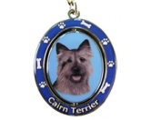 AusstellungszubehörHundeausstellungs-ClipsDrehbarer-Schlüsselanhänger: Cairn Terrier
