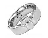 Für MenschenNostalgische GeschenkartikelEnergy and Life Magnetschmuck - Ring Pfote - Zirkonia-