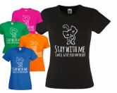 Fan-Shirts für HundefreundeT-Shirt Damen: Stay with me - Cat